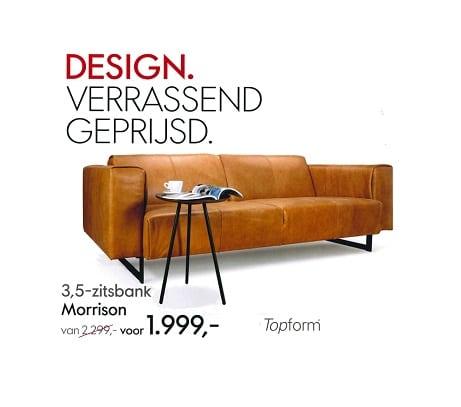 Hoekbank Elements Topform.Topform Morrison Bank Aanbieding Smellink Wonen Design